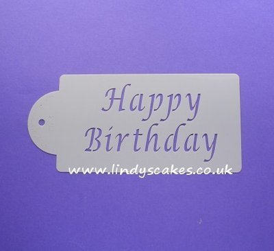Happy Birthday Stencil (C013)