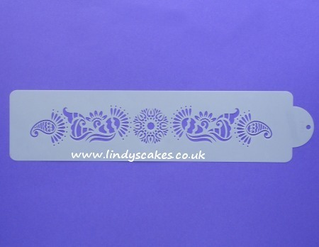 Mehndi Side Design Stencil (C393) SKU18002