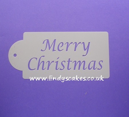 Christmas - 'Merry Christmas' Word Stencil (C016)