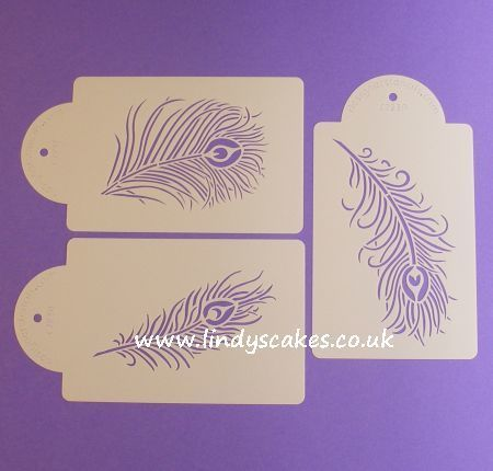 Peacock Feather Stencil Set (C723) SKU18724