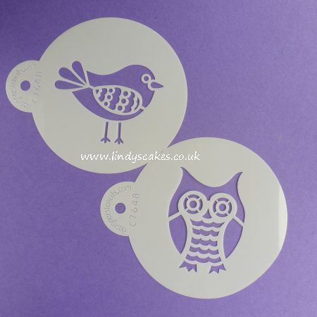 Retro Owl and Bird Stencil Set (C764) SKU178142