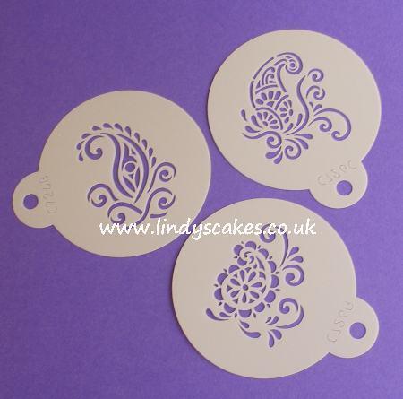Paisley - Silk Paisley Mini Stencils (C726) SKU178141