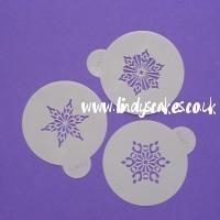 Snowflakes - Mini Crystal Snowflake Stencils (C746) SKU178223