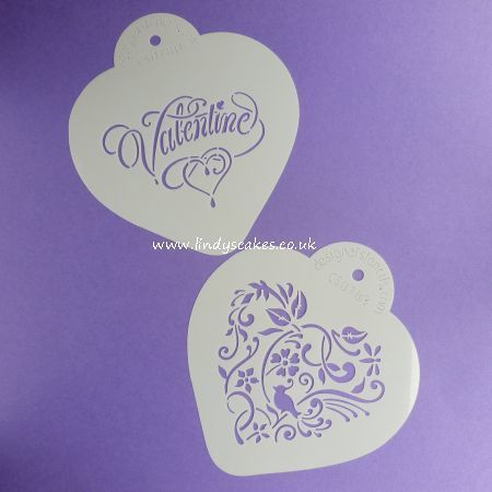 Hearts - Valentine Heart Cake and Cookie Stencil Set (CS078) SKU178211