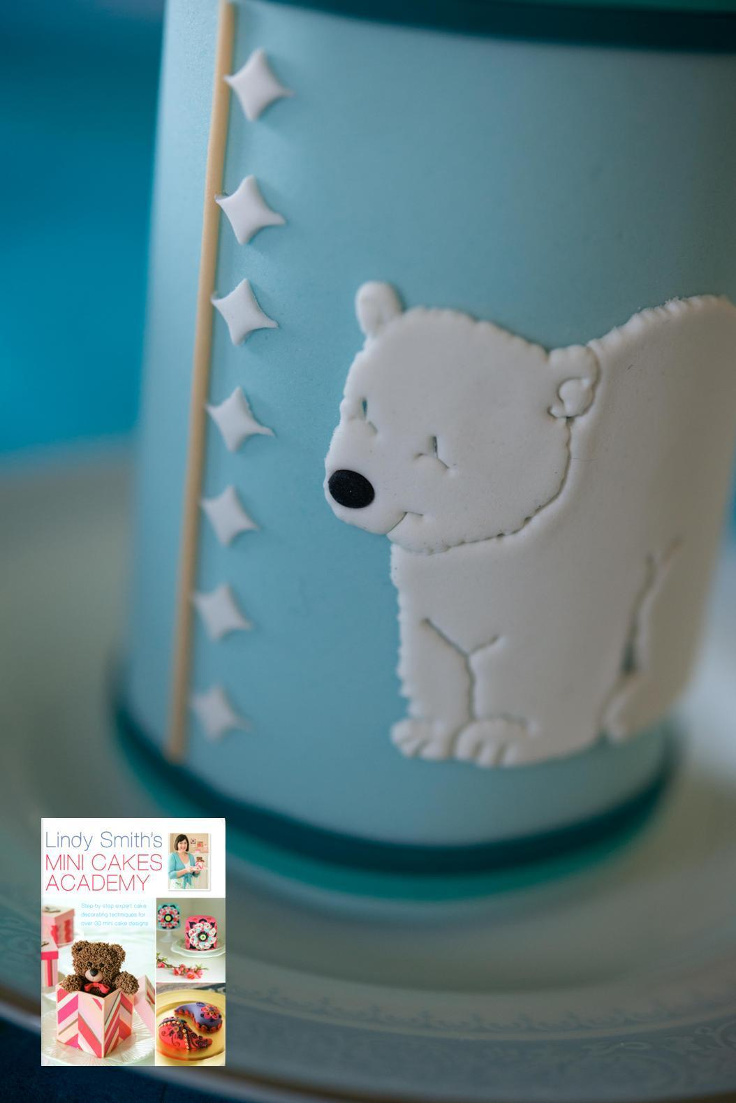 The scallop diamonds work a treat on this baby bottle mini cake - they are the perfect size