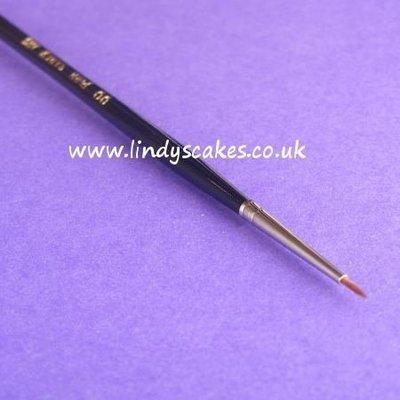 Pure Sable Artists Pencil Paintbrush No 00