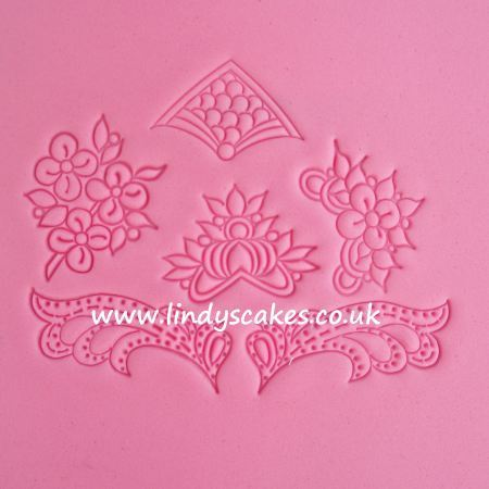 Lace Motif Embossing Stamps -  Set 19 SKU1780911111111111