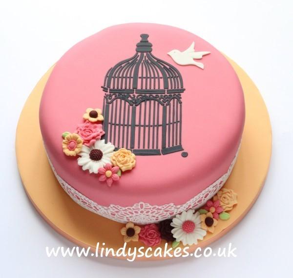 Cake Top Birdcage Stencil
