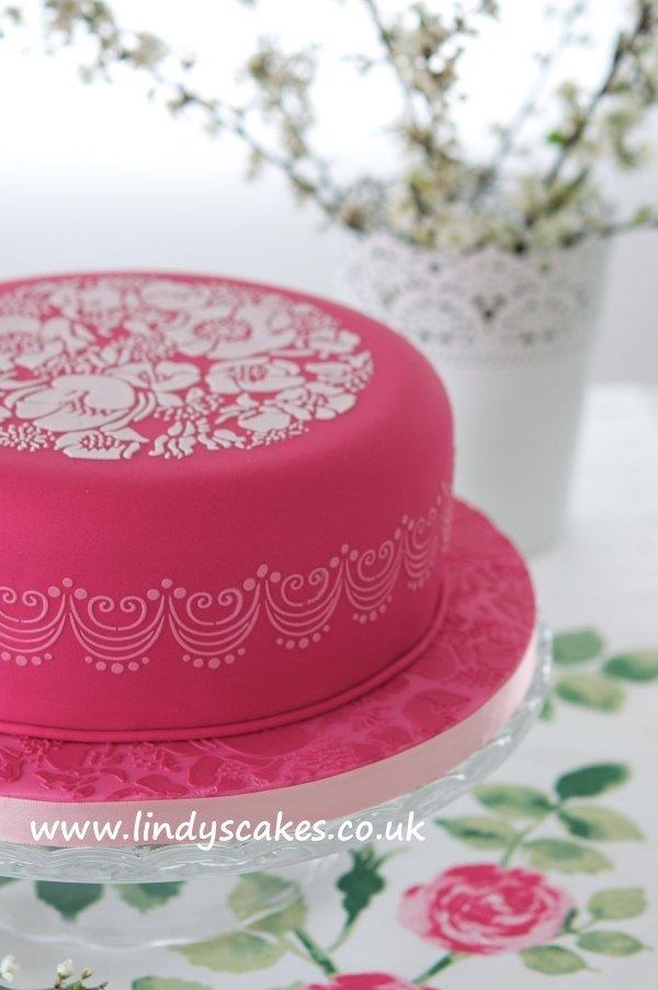 Rose Stencil Cake Topper