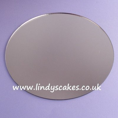 20cm (8in) Round Acrylic Mirror Cake Board