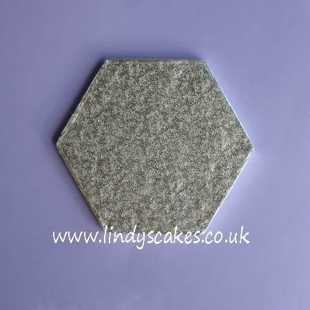 18cm (7in) side to side Hexagonal 12mm Thick Cake Board (Cake Drum) SKU177221112111121