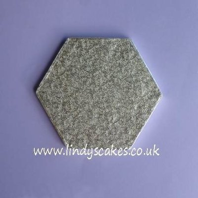 18cm (7in) side to side Hexagonal 12mm Thick Cake Board (Cake Drum)