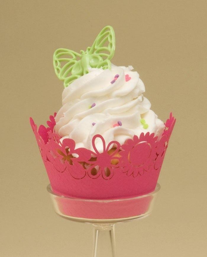 Happy Flowers (Watermelon) Cupcake Wrappers SKU181872112