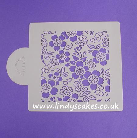 Cherry Blossom Stencil (LC106) | Lindy's Cakes SKU18009