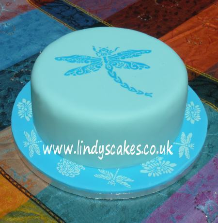 Dragonfly Cake Top Stencil - Lindy's (LC118) SKU18855
