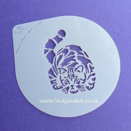 Cat - Gorgeous Tabby Cat Stencil - Lindy's LC204 SKU189465726