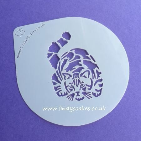 Cat - Gorgeous Tabby Cat Stencil - Lindy's LC204