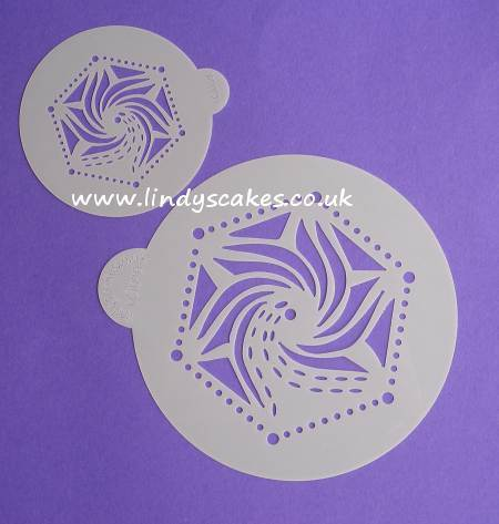Hexagon Stencil Set (LC109) Lindy's Cakes SKU18041