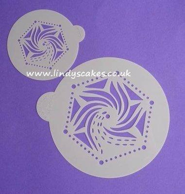 Hexagon Stencil Set (LC109) Lindy's Cakes