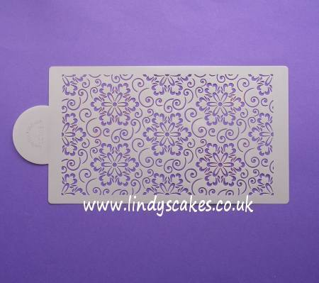 Japanese Flower Scroll Pattern Stencil Sheet (LC103) - Lindy's SKU18005