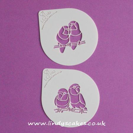Lovebird Cupcake and Cookie Stencil Set - Lindy's (LC214) SKU180402