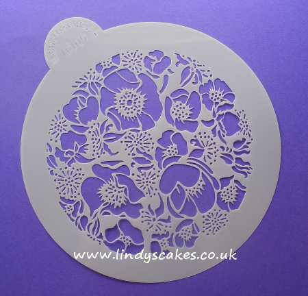 Roses - Species Rose Circle Stencil (LC105) Lindy's SKU18008