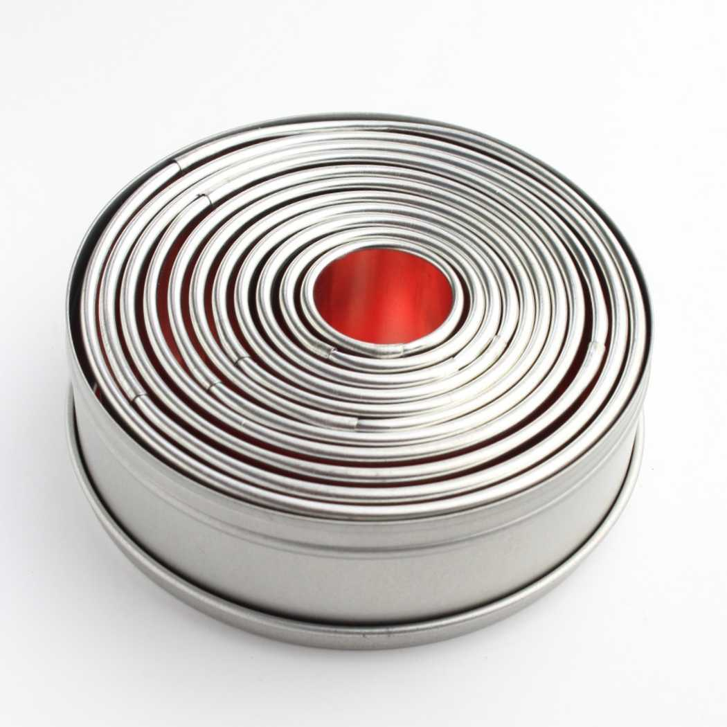 Round Pastry Cutters (Tin of 11) SKU18031