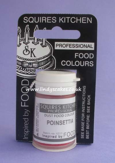Red - Poinsettia - Christmas Professional Dust Food Colour 4g (SK) SKU175651231116