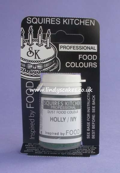 Green - Holly / Ivy Professional Dust Food Colour 4g (SK)