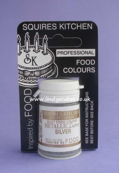 Silver Metallic Lustre Dusts 4g (SK)