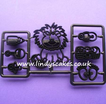 Baby Lion and Nursery Items Cutters and Embossers (Patchwork Cutters) SKU17620