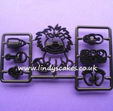 Baby Lion and Nursery Items Cutters and Embossers (Patchwork Cutters)