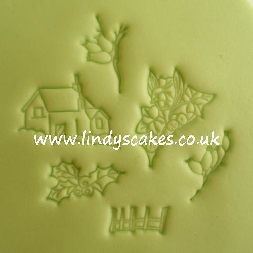 Countryside Border Winter Embossing Sticks - Set 8
