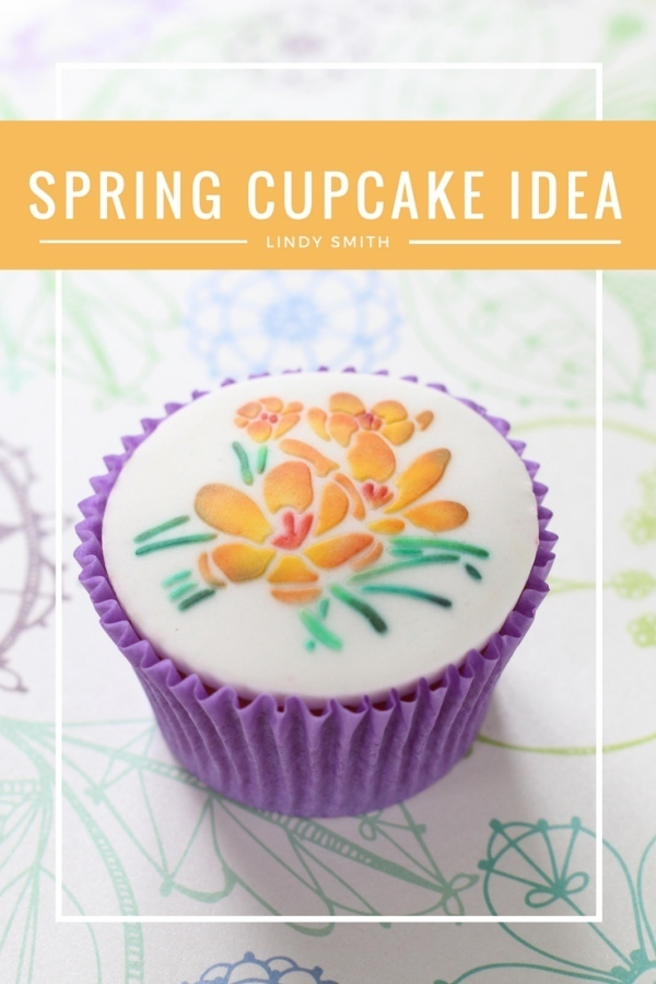 crocus on a cupcake by Lindy Smith