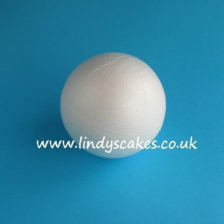 10cm (4in) Ball Shaped Polystyrene Cake Dummy SKU177961
