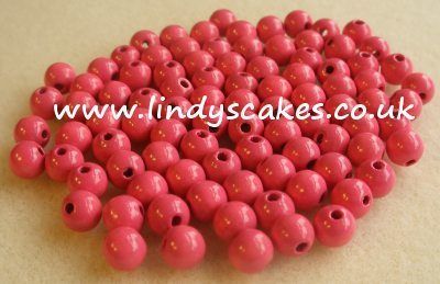 Pink - Dusty Pink Wooden Beads (6mm) SKU17584