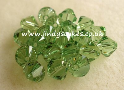 Green - Peridot Green Swarovski Crystals (6mm) SKU175592