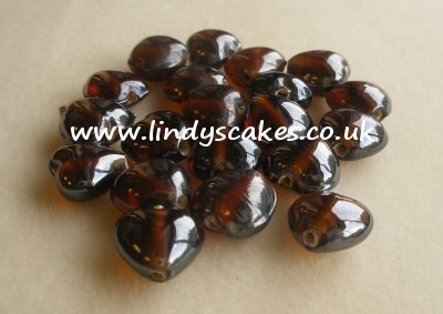 Brown - Topaz Indian Lustre Hearts (12mm) SKU175693