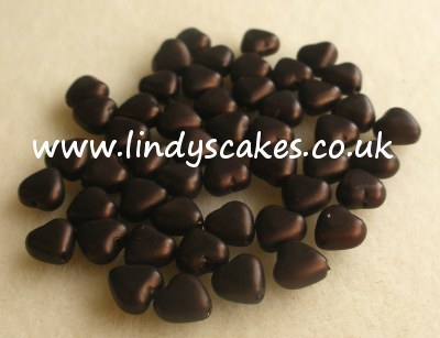 Brown Glass Heart Pearls (6mm) SKU175955