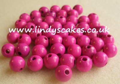 Lilac Wooden Beads (8mm) SKU175745