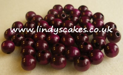 Purple - Deep Purple Wooden Beads (8mm) SKU1757611