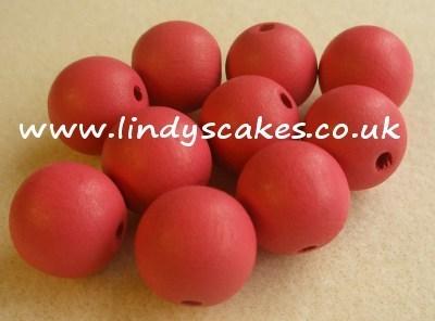 Pink - Salmon Pink Wooden Beads (15mm) SKU175862