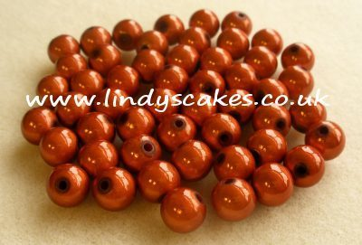Brown - Amber Miracle Beads (8mm) SKU1762111