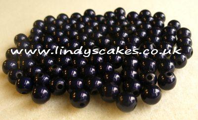 Blue - Navy Miracle Beads (6mm) SKU1762213