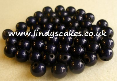Blue - Navy Miracle Beads (8mm) SKU176221312
