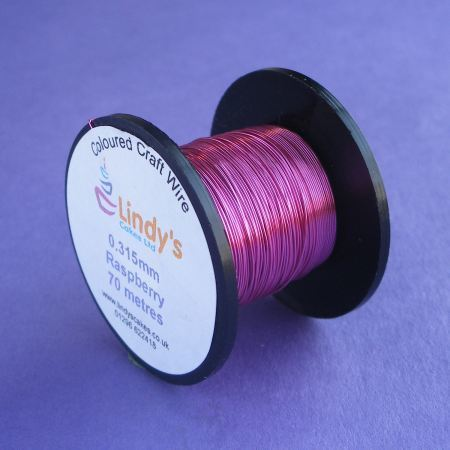 Pink - Raspberry Pink Coloured Copper Craft Wire (0.315mm) SKU17664172