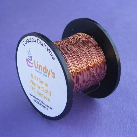 Gold - Warm Gold Coloured Copper Craft Wire (0.315mm) SKU17664172111