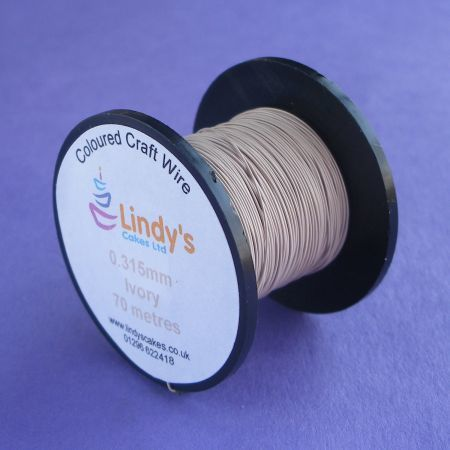 Ivory Coloured Copper Craft Wire (0.315mm) SKU1766417211111