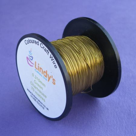 Green Chartreuse Coloured Copper Craft Wire (0.315mm) SKU176641721111111