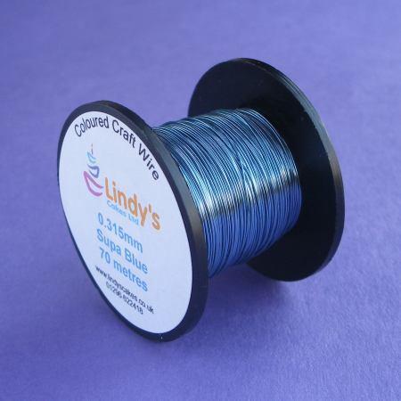 Blue (Supa) Coloured Copper Craft Wire (0.315mm) SKU1766417211111111